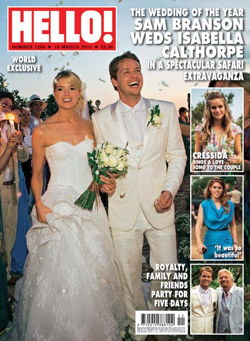 Sam Branson and Isabella Anstruther-Gough-Calthorpe Wedding