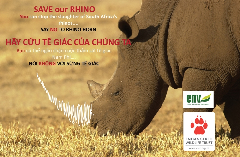 South Africa and Vietnam Working Together To Campaign For Rhino Protection (1/2)