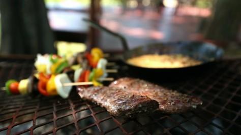 Springbok fillet & veg on grill