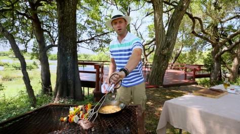 Springbok fillet on grill