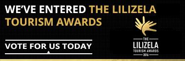 We're Nominated For The Lilizela Tourism Award 2016